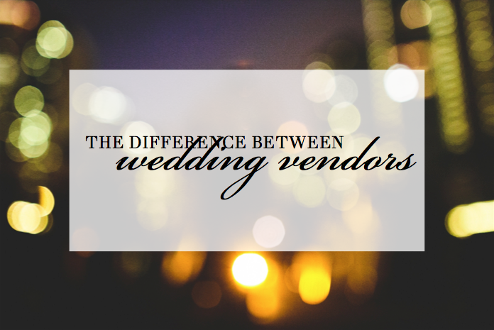 the difference between wedding vendors