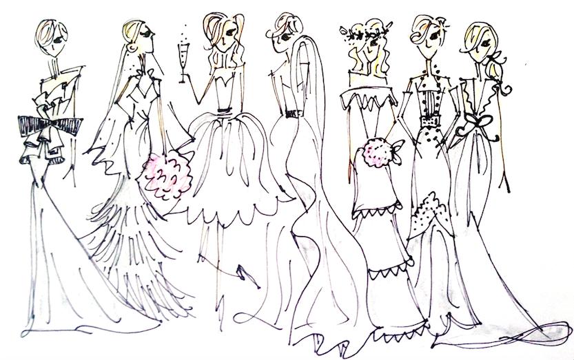 Bridal Quiz Sketches