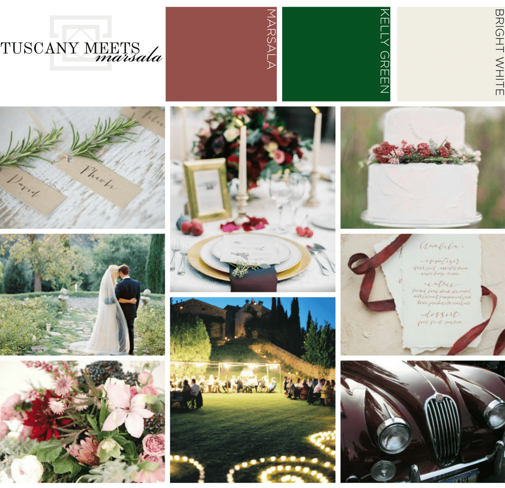 Tuscany Marsala Wedding