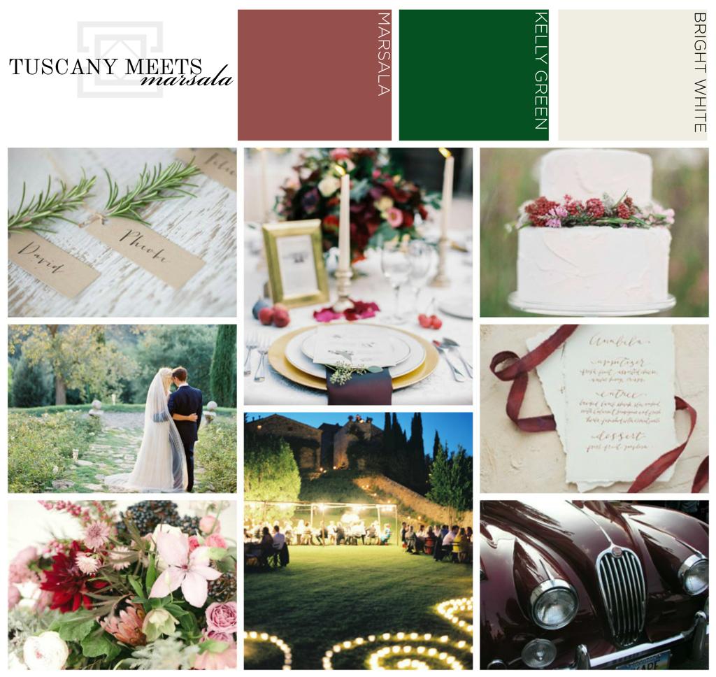 Tuscany Marsala Wedding