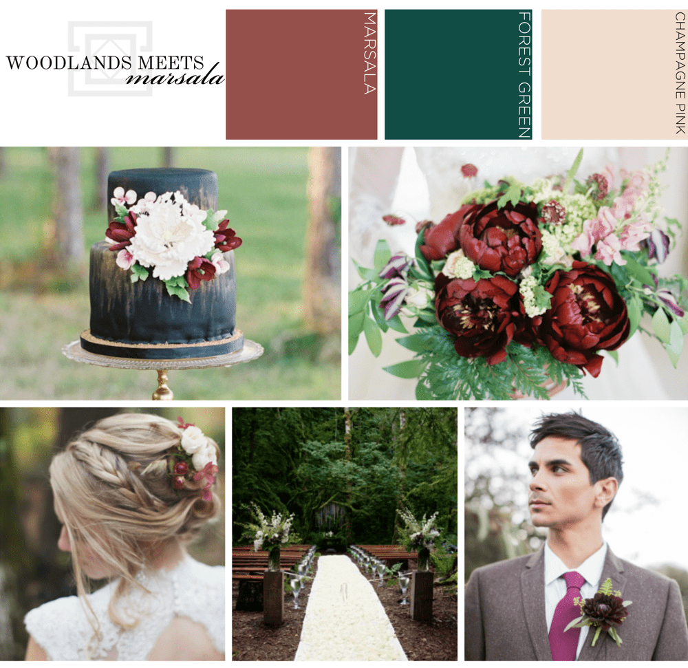 Woodlands Meets Marsala Wedding