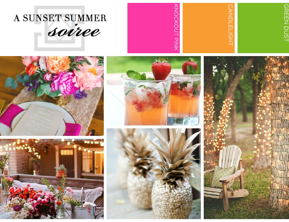 sunset summer soiree