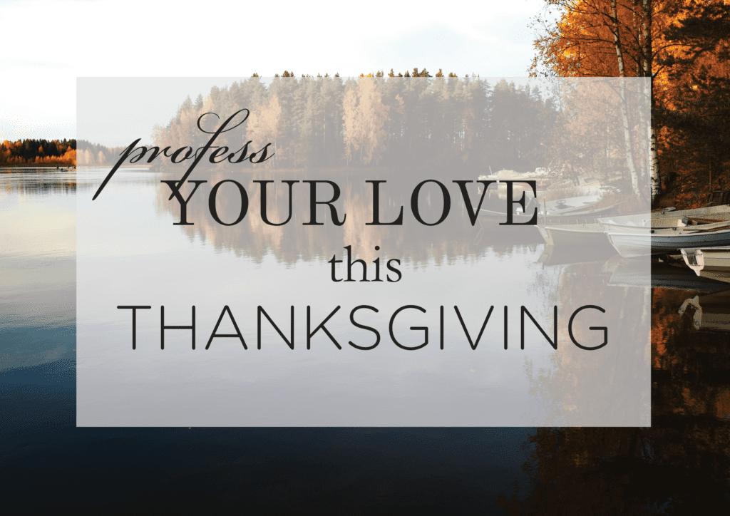 Thanksgiving Proposal Ideas