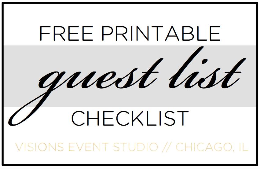 guest list checklist button